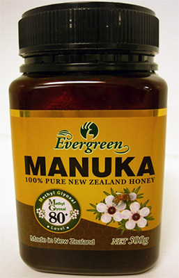 One type of Evergreen brand manuka honey.