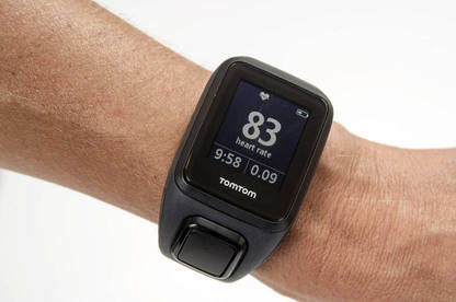 The watch monitors your heart rate, distance, speed, pace, duration and calories burnt.