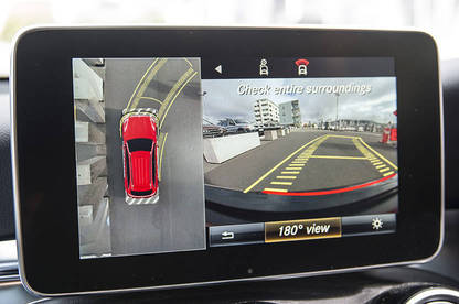 Along with a standard reversing camera, the GLC 250 has 360-degree cameras.