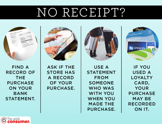 No receipt? There are other ways to prove you've bought something.