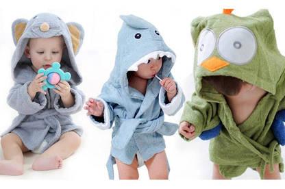 16oct animal themed baby bath robe