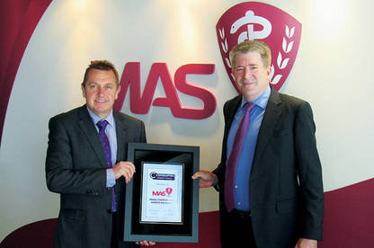 Consumer NZ general manager – business Derek Bonnar and MAS chief executive Martin Stokes.