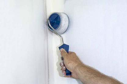"The ""flocked edger"" for cutting-in around window frames, skirting and ceilings gave a slightly uneven, textured finish."