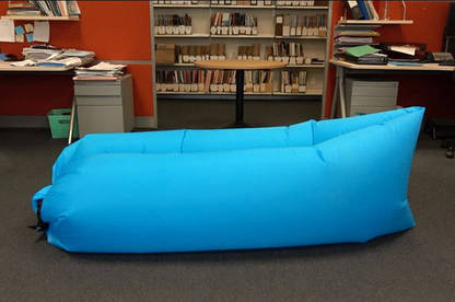 The lounger before a staff member sat in it for 10 minutes.