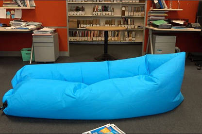 The lounger after a staff member sat in it for 10 minutes.