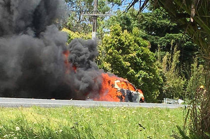 Eden O'Connor's Ford Kuga caught fire at the end of last year.