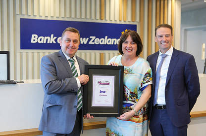 Left to right: Derek Bonnar -  General Manager – Business, Consumer NZ; Donna Nicolof - Head of Wealth & Private Bank, BNZ; Paul Carter -  Director, Retail & Marketing, BNZ