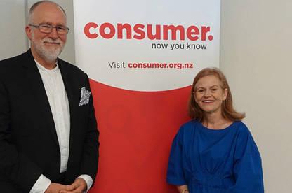 Robert Love and Consumer NZ CEO Sue Chetwin.