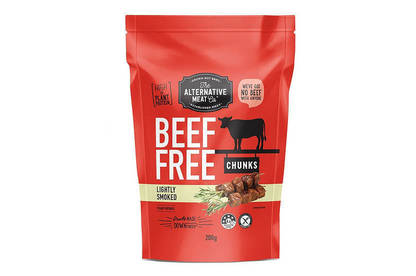 The Alternative Co's Beef Free Chunks contain more than 5g of fibre per 100g. Beef and chicken don't contain any fibre.