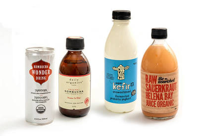 Our taste test panel sampled a range of fermented drinks, from kombucha and kefir to sauerkraut juice.