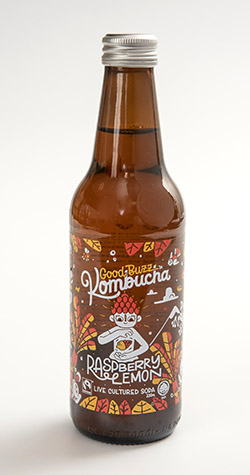 Good Buzz was the only kombucha in our survey that lists its microbial species, the yeast Saccharomyces boulardii, on the bottle.