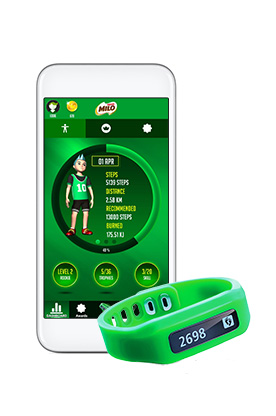 The Milo Champions Band ($45) tracks the number of steps your child takes, the distance covered and how many kilojoules they've burned.