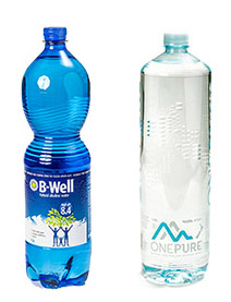 B-Well and One Pure are marketed as alkaline waters and their websites boasted about their products' health benefits.