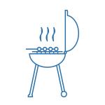 Barbecue blue