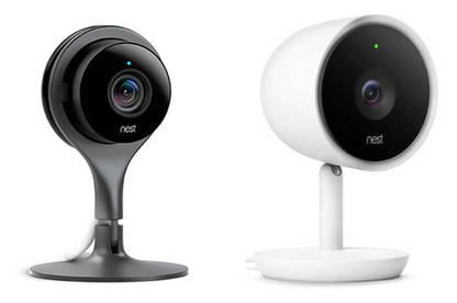 Left to right: Nest Cam Indoor ($359) and IQ Indoor ($549)