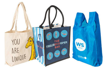 Left to right: Life Education bag; The Eco Bag; Warehouse Stationery bag