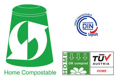 "These are the ""home compostable"" certification symbols to keep an eye out for."