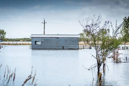 Rising sea levels in coastal areas