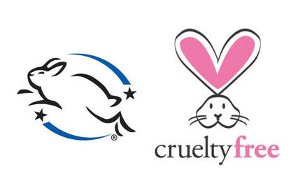 Leaping bunny and cruelty free logo