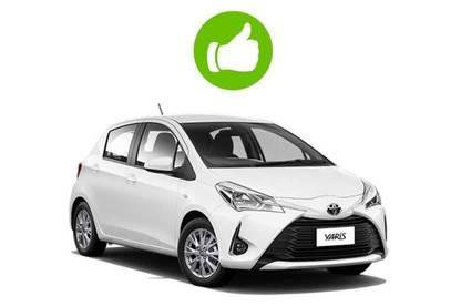 White Toyota Yaris.