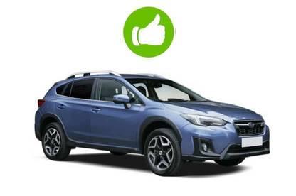 Blue Subaru XV.