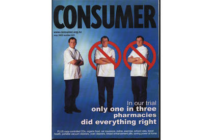 Consumer magazine cover on pharmacies complying with the law.