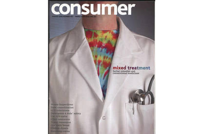 Consumer magazine on alternative medicines
