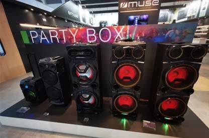 Party boxes on display at IFA Berlin.