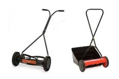Two red handmowers.