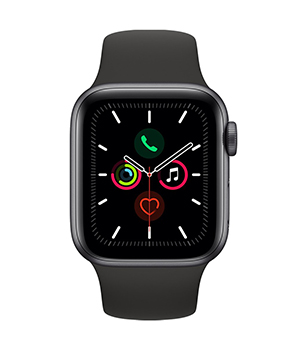 Apple Watch in black.