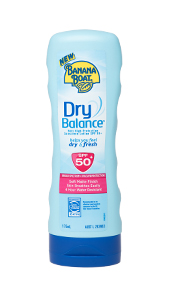 Banana Boat Dry Balance Sunscreen Lotion SPF50+.