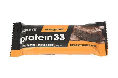 Horleys Protein 33 Chocolate Fudge Flavour Energy Ba