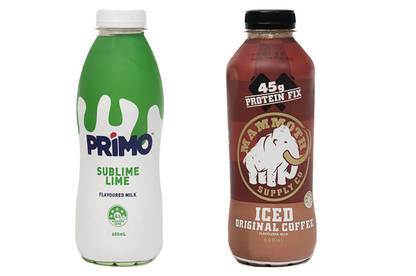 Mammoth Supply Co's Iced Original Coffee and Primo Sublime Lime milk.