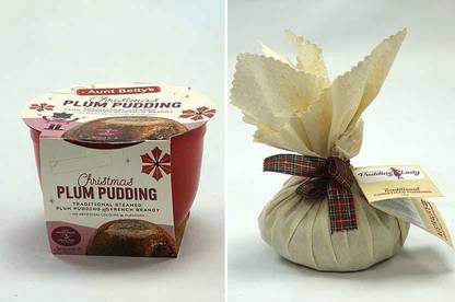 Aunt Betty's Christmas Plum Pudding and Pudding Lady Traditional Christmas Pudding.