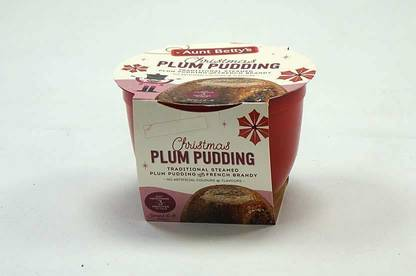 Aunt Betty's Christmas Plum Pudding.
