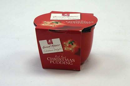 Ernest Adams Rich Fruit Christmas Pudding.