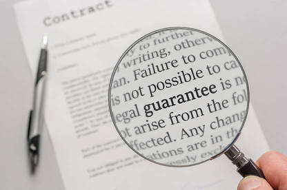 Cope of contract with fine print