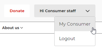 Accessing My Consumer on consumer.org.nz website.