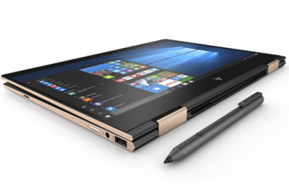 HP Spectre x360 folding into tablet form with pen