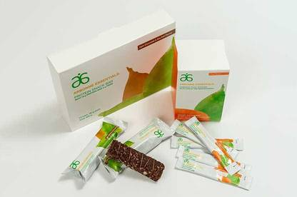 Arbonne Essentials Protein Snack Bars and Energy Fizz Sticks.