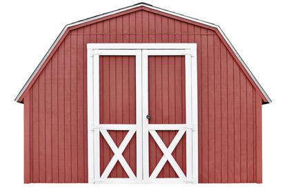 Red barn door.
