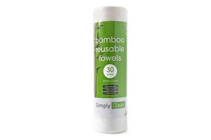 Simply Clean Bamboo reusable towels.