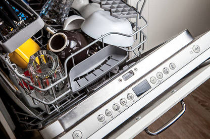 Clean dishes in dishwasher after washing in eco mode.