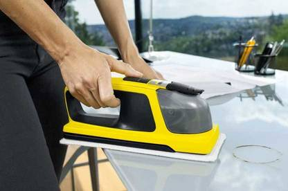 Karcher KV 4 cleaning a bench.
