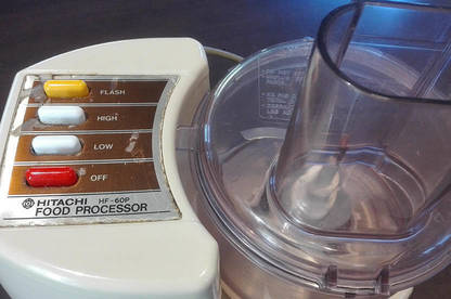 The 38-year-old Hitachi food processor.