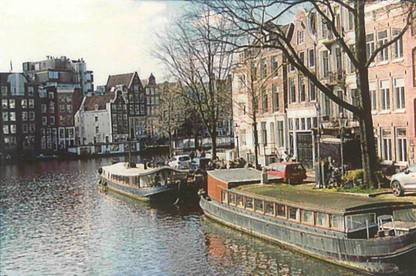 Photo of a canal in Amsterdam, printed with the HP Sprocket.