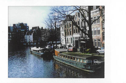 Photo of a canal in Amsterdam, printed with the Fujifilm Instax Mini Link.