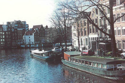 Photo of a canal in Amsterdam, printed with the Lifeprint.