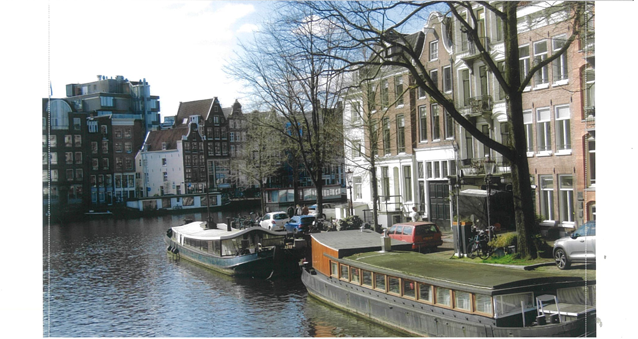 Photo of a canal in Amsterdam, printed with the Canon Selphy CP1300.