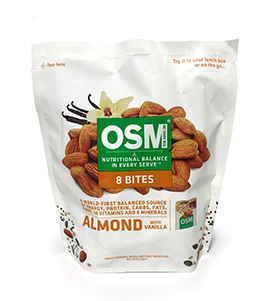 Osm almond with vanilla bites med